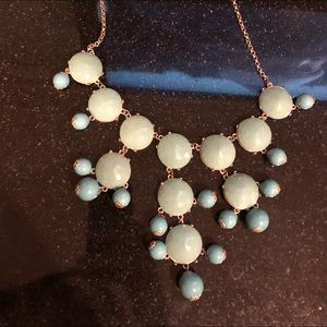J crew blue and turquoise necklace